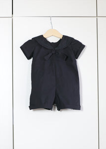 Finley Sailor Romper - Black