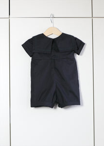 """Finley"" Alternative baby sailor romper - Black"