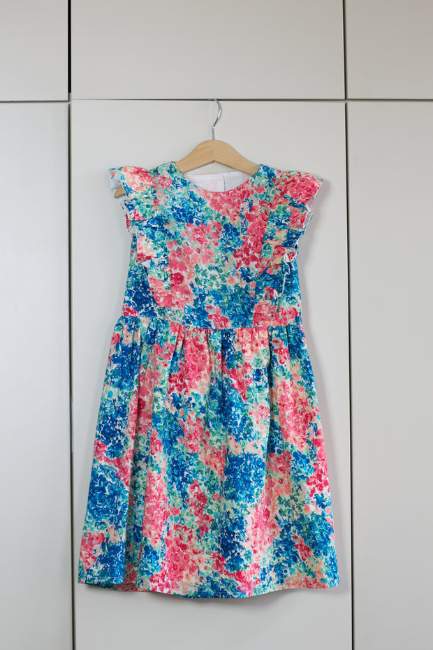 "Liberty Print Girls Party Dress - ""Mary Jean"""