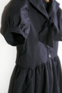 "Black Cotton Gothic Sailor Dress - ""Katherine"""