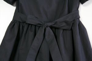 Katherine Sailor Dress - Black Cotton
