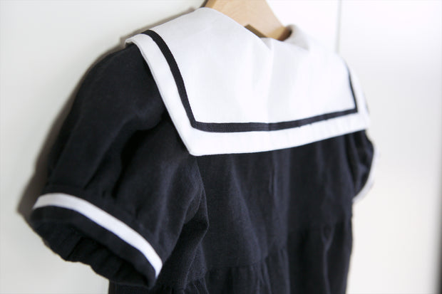 Black and White Sailor Romper