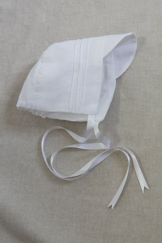 Elliott Linen Bonnet - White