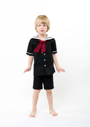 "Black Victorian Boys or Girls Sailor Suit -  ""Drake"""