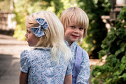 girls and boys liberty blue dress and shirt