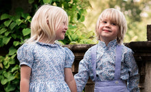matching flower girl dress with boys shirt