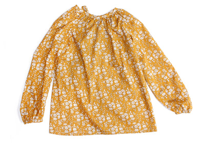 "Liberty Print Girls Peasant Blouse - ""Maria"""