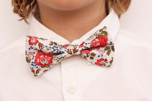 Boys Liberty Print Bow Tie - Red Felicite