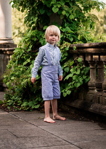 boys liberty print shirt and pantaloons