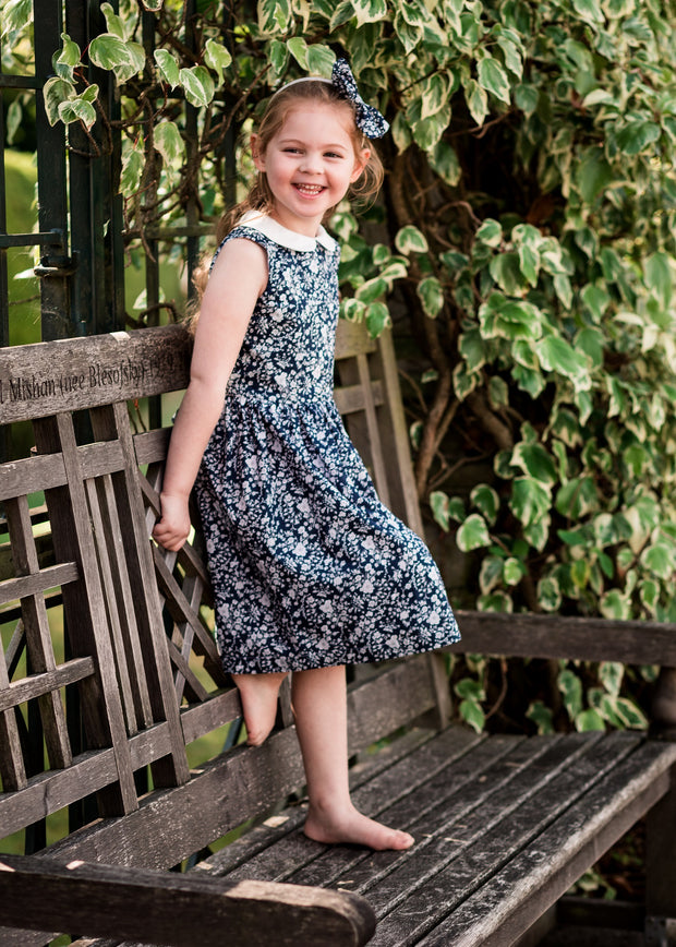 "Peter Pan Liberty Print Girls Dress - ""Lulu"""