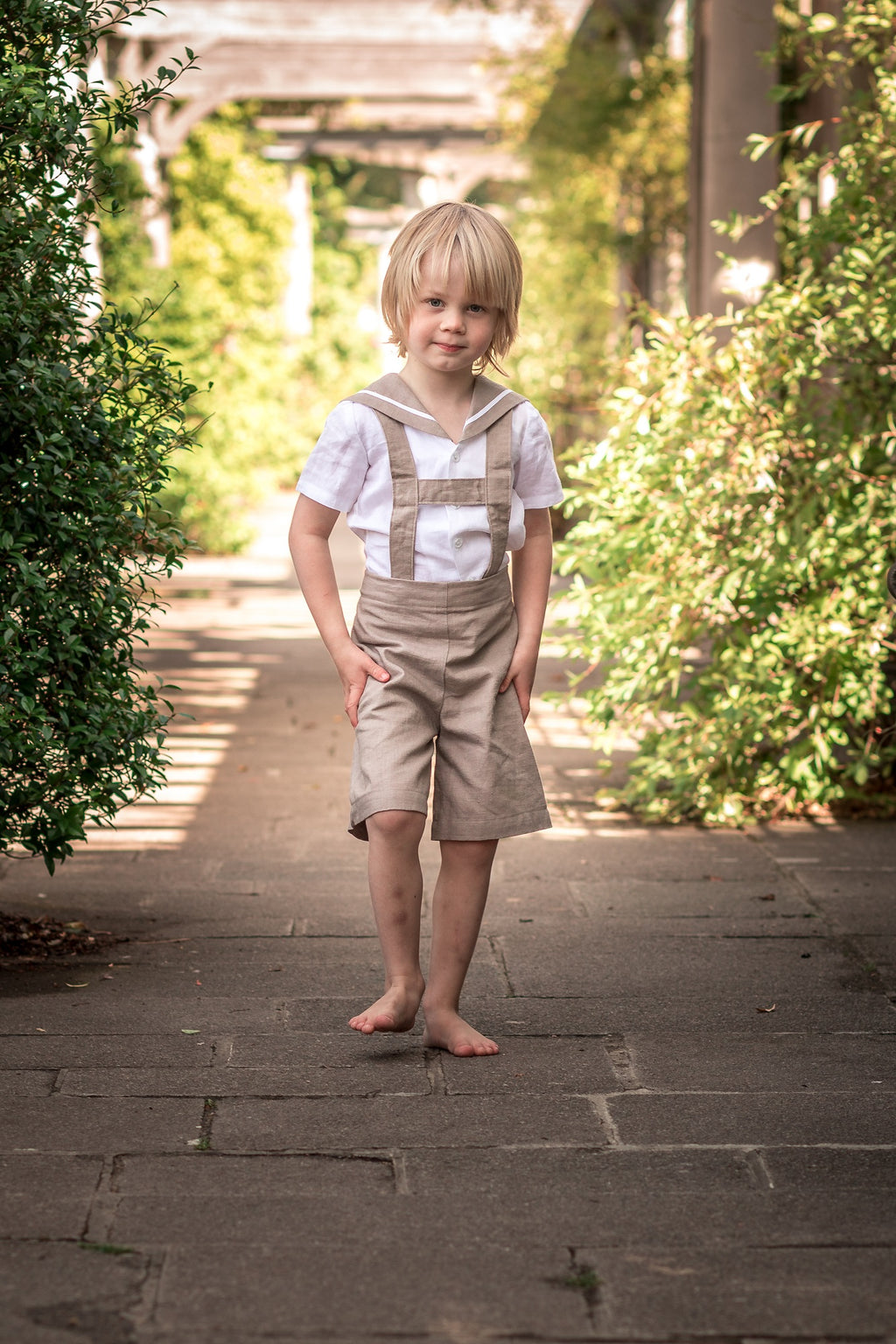 linen sailor suit baby boys girls beach wedding