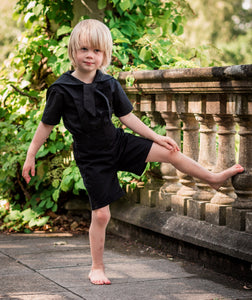gothic page boy outfit black