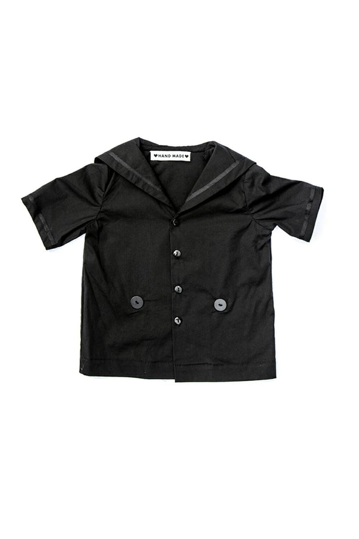 baby sailor shirt black