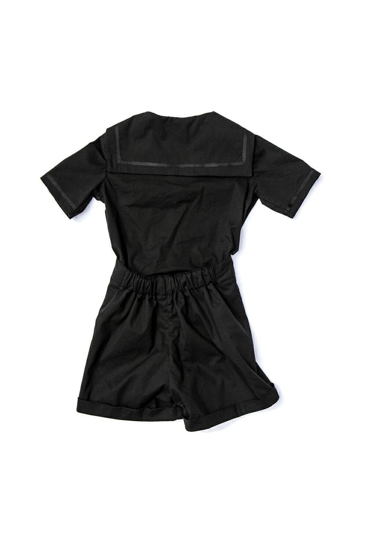 "Gothic Black Girls or Boys Sailor Suit - ""Noah"""