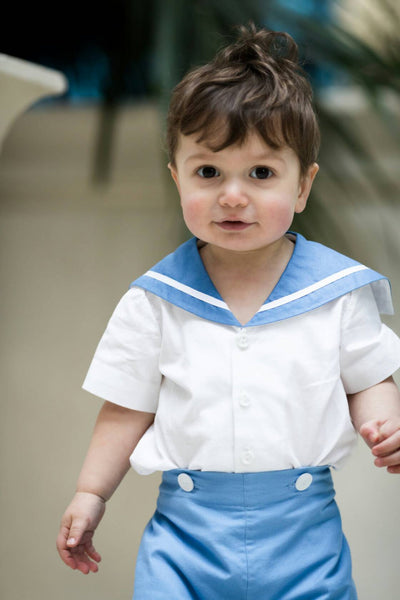 Toddler sailor suit romper christening uk