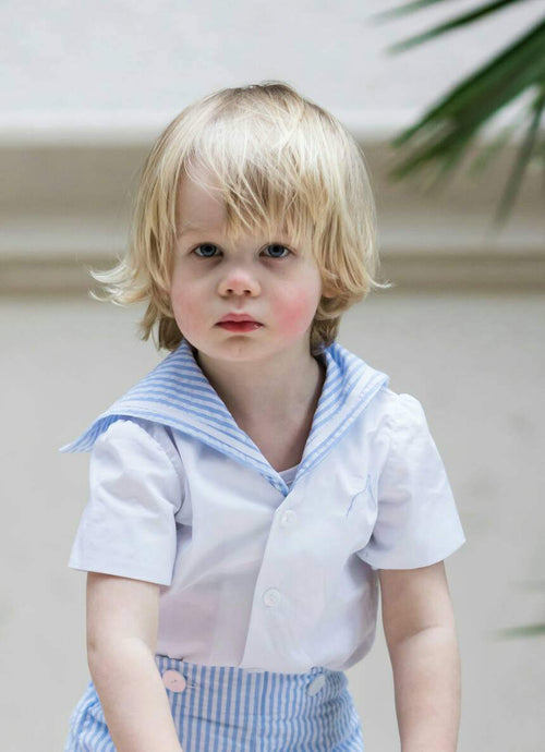 Boys sailor suit uk christening outfit