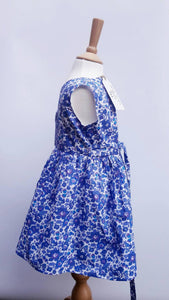 liberty blue summer toddler dress
