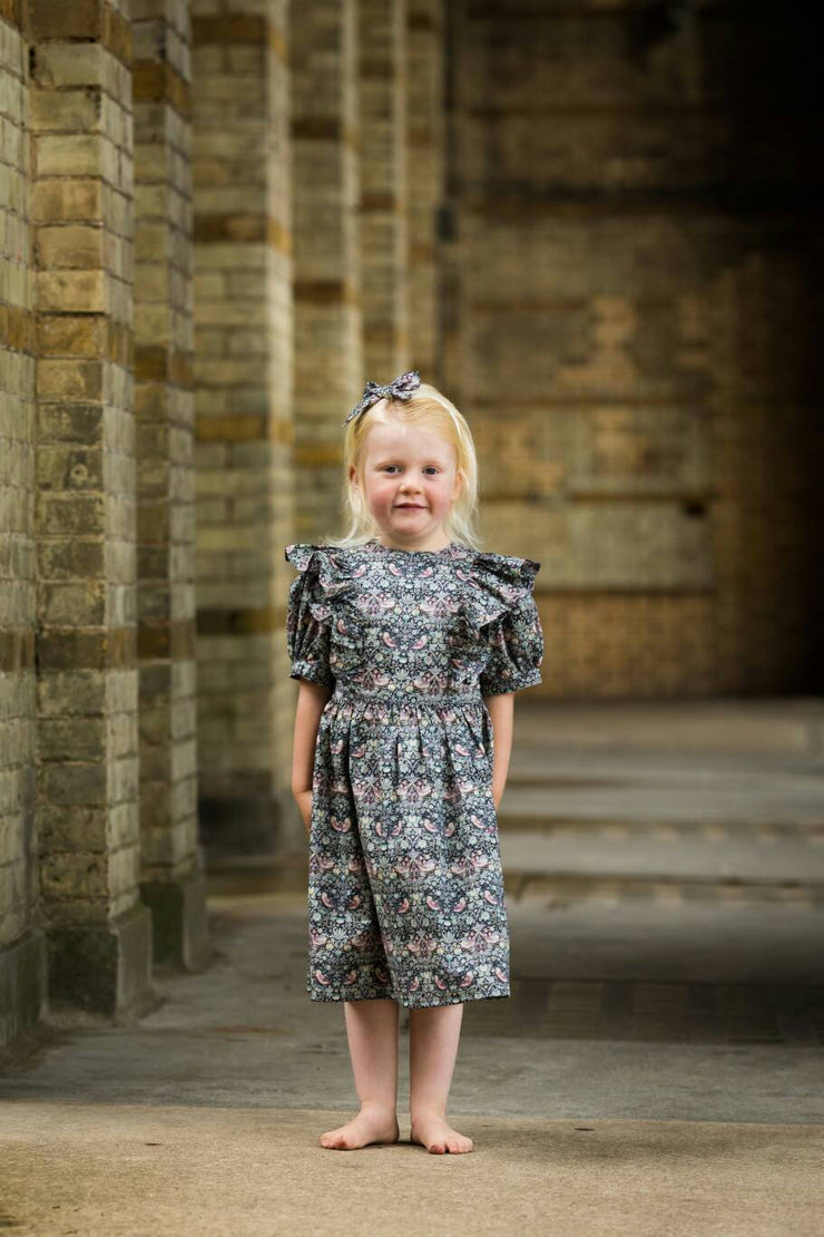 liberty print girls dress