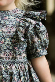 frill detail of girls dress