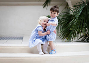 sailor romper and sailor dress for baby boy and girl