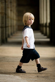 traditional boys sailor suit navy page boy outfit