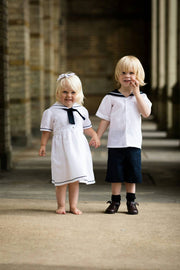 Sailor Girls Toddler dress and sailor suit linen