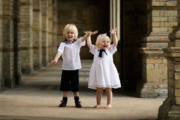 linen sailor page boys and flower girl dress uk