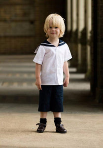 Linen boys sailor suit page boy uk