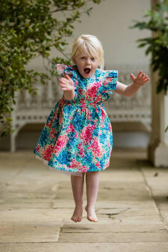 Liberty Print Girls Party Dress -