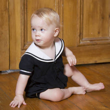 Load image into Gallery viewer, baby sailor romper uk black