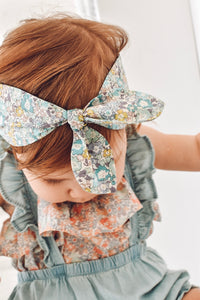Top Knot Girls Hair Band - Edenham Liberty Print