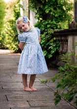 Load image into Gallery viewer, light blue liberty print dress