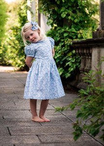 light blue liberty print dress