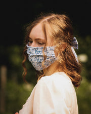 Liberty Print Luxury Frill Face Mask with Filter pocket
