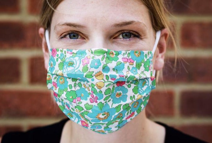 Lucky Dip Liberty Print Face Mask - Filter Pocket - Nose Wire - Next Day Dispatch