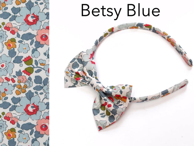 Wide Liberty Print Girls Alice Band Bow