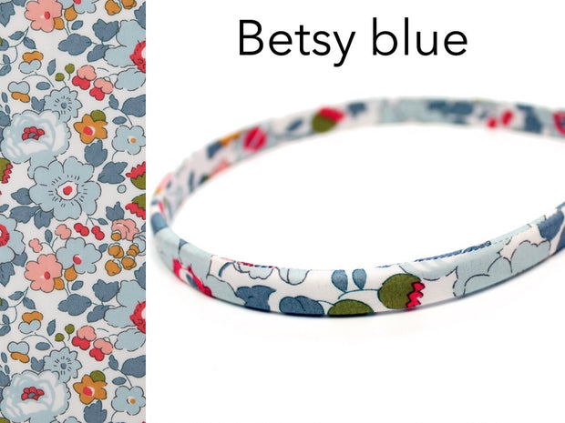 Liberty Print Slim Alice Band Bow