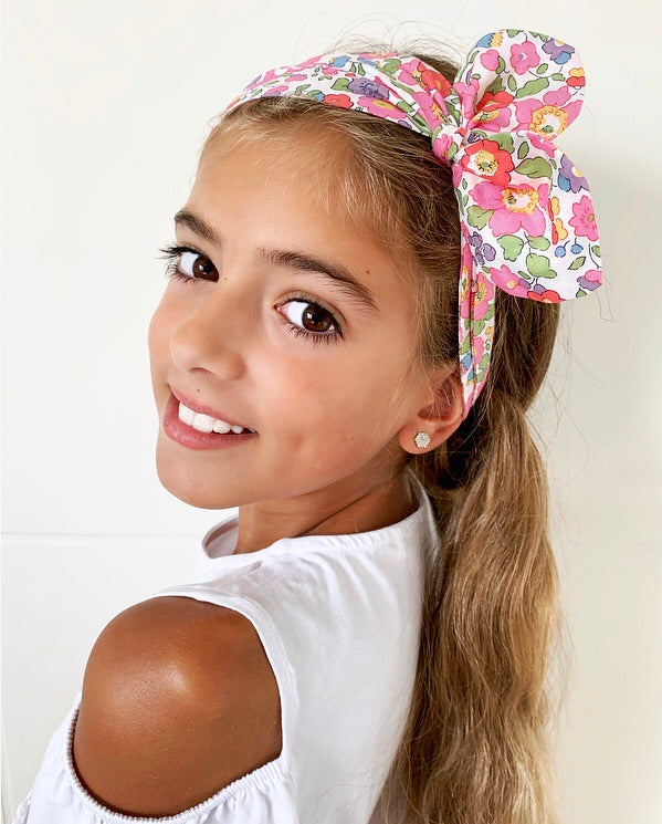girls liberty print top knot