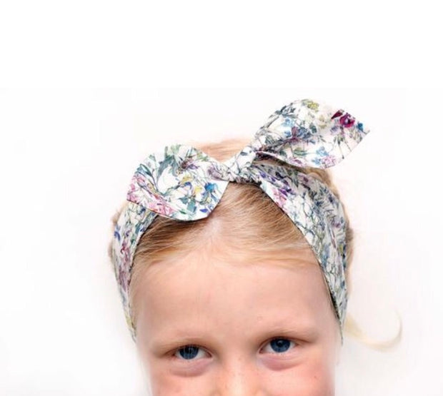 liberty print top knot headband