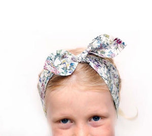 Girls Liberty Print Top Knot Headband