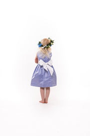 "Silk Sash Flower Girl Dress - ""Lucie"""