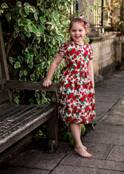 winter liberty print girls dress