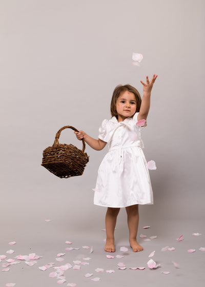silk christening dress sailor dress girls first communion