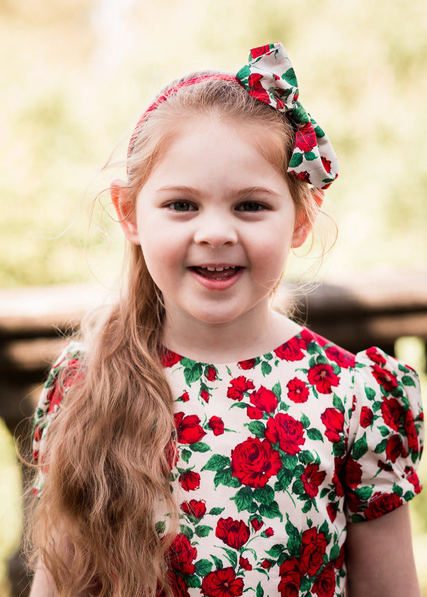 flower girl  liberty print dress baby