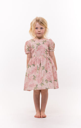pink liberty print girls dress