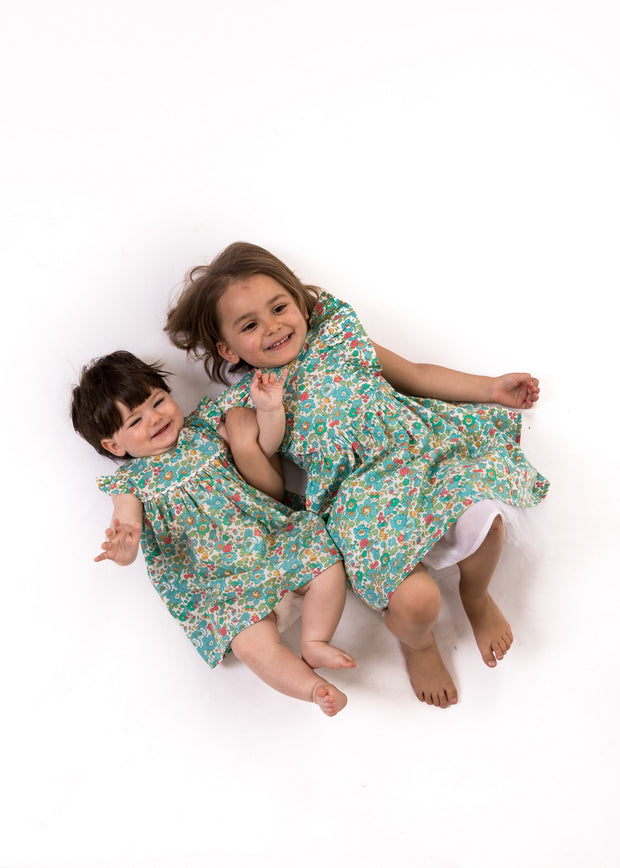 liberty baby and girls dress