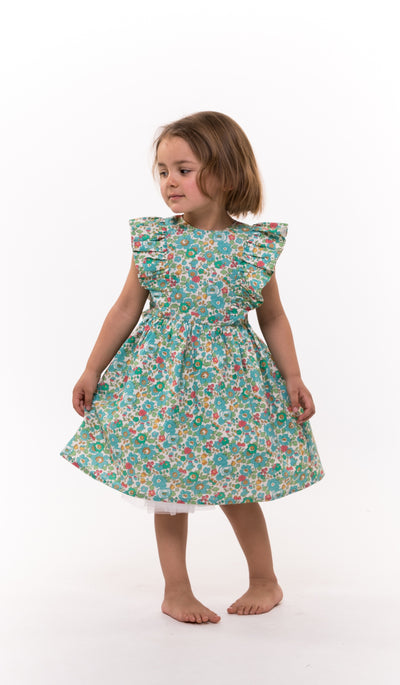 girls liberty print party dress
