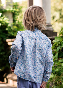 liberty print boys shirt back view