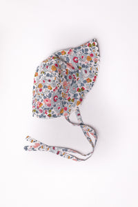 liberty print girls baby bonnet