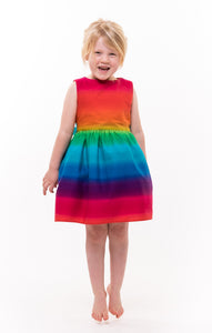 Girls Rainbow Party Dress